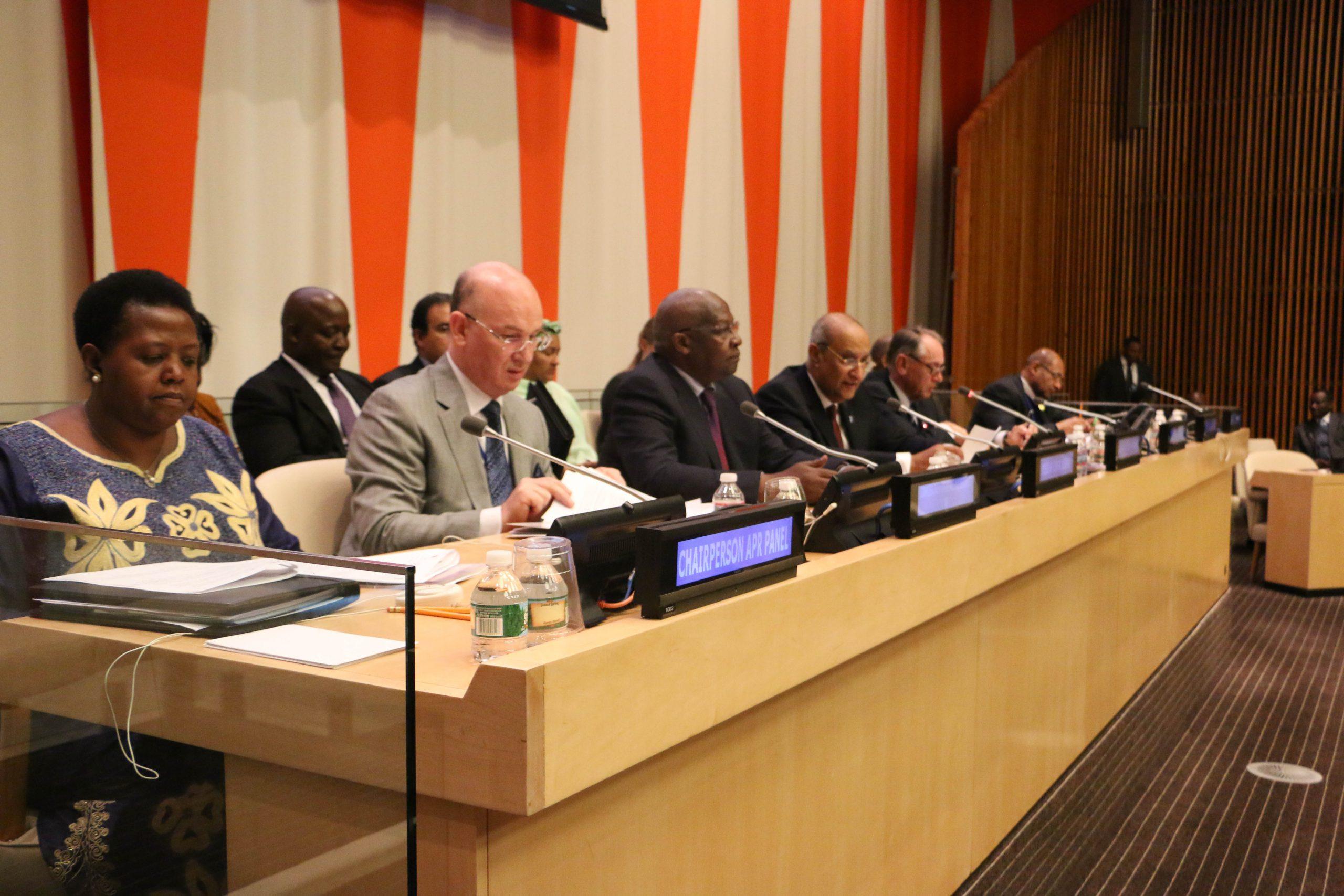 Mesa redonda 'The Africa We Want'. Sede de las Naciones Unidas, Nueva York. Octubre de 2014